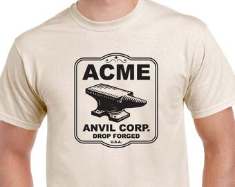 Acme Anvil Corp T-shirt inspired by the Road Runner Cartoon. Every coyote needs one.