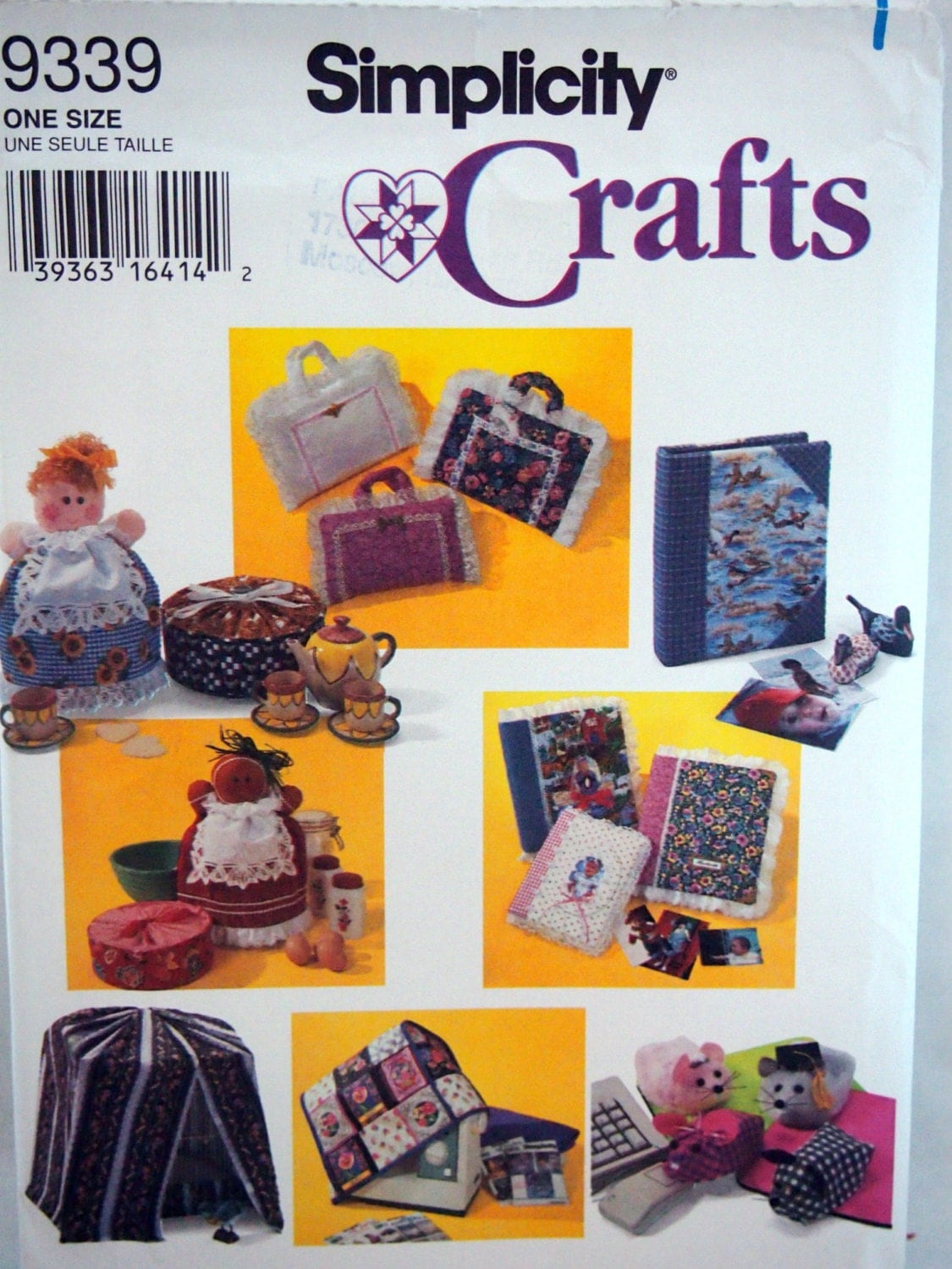 Book Cover Sewing Machines ~ Fabric covers simplicity crafts uncut sewing pattern