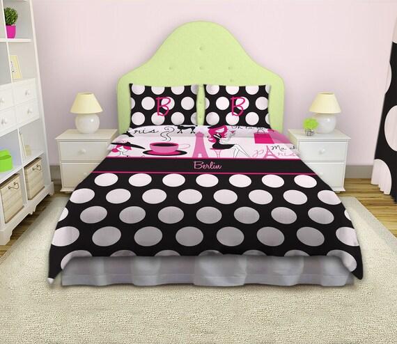 Paris Theme Bedding Paris Bedding Queen Size For Girls Polka