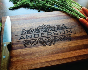 Personalized Cutting Board, Christmas, Gift For Him, Gift For Her, Custom Name, Husband Gift, Boyfriend Gift, Wedding Gift, Anniversary Gift