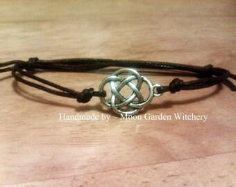 Mystical Celtic Knot Bracelet / Anklet ~ irish gaelic jewelry (many colours available)