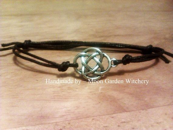 mystical celtic knot bracelet anklet by moongardenwitchery. Black Bedroom Furniture Sets. Home Design Ideas