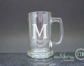 Personalized Beer Mug Glass - Etched Beer Mug - Engraved Beer Mugs - Wedding Glasses