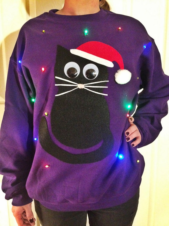 Christmas sweater cat