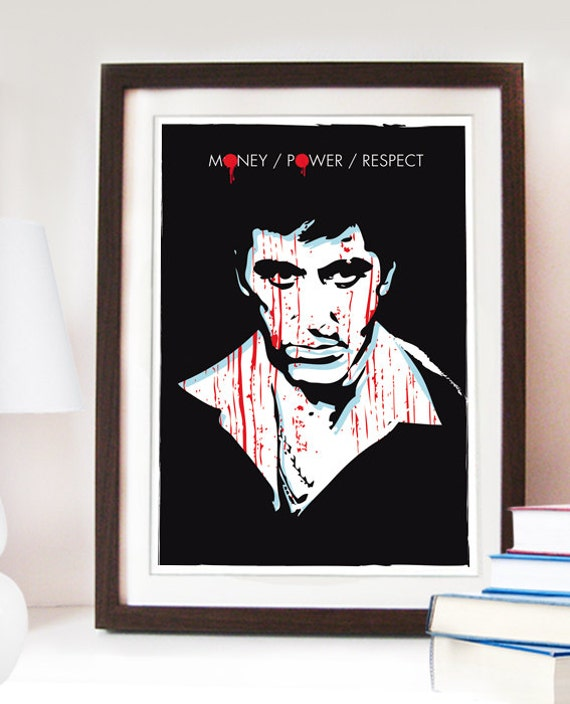 Scarface framed poster