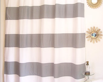 Sale Pink Organic Horizontal Stripe Shower By AnnaMartyDesigns