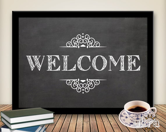 Welcome Wall Decor printable art wall decor welcome printable:welcome typography