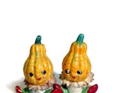 Collectible Baby Yellow Vegetable Salt and Pepper Shakers Retro Anthro Salt & Pepper Collector Set Country Chic, Cottage Chic, Shabby Chic