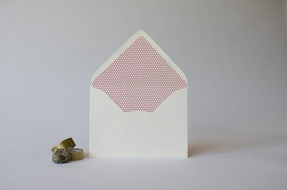 honeycomb lined envelopes (25 color options) - sets of 10