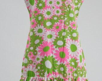 1960s Mod Flower Patterned Summer Dress, 1960s Dress, Vintage Dress, 1960s Mod Dress, Floral Print Dress,  Mod Dress, Vintage Dress, 1960s