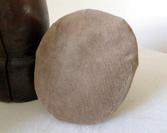 Beige Corduroy Flat Cap - Pure Cotton Corduroy Spring Driving / Ivy / Flat Cap - Men