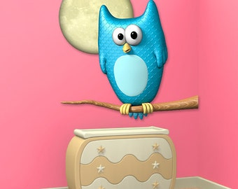 Wall decals owl A105 - Stickers chouette A105
