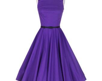 Vintage 50s Comfortable Purple Dress