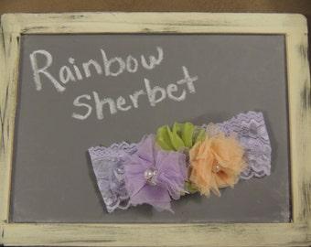 Rainbow Sherbet Girls Headband