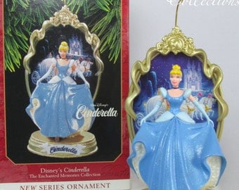 1997 Hallmark Cinderella Ornament Disney Enchanted Memories Princess 1st in Series BEAUTIFUL #1 Christmas Vintage Collection Carriage