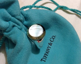 Tiffany & Co. Mother of Pearl Sterling/18K Ring
