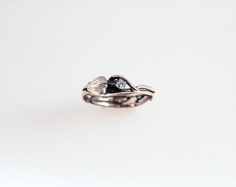 Simply Diamond Eco Engagement Ring - in Recycled Silver