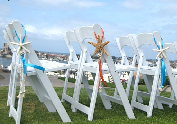 wedding beach ideas decoration wedding decor starfish chair decoration with 8428