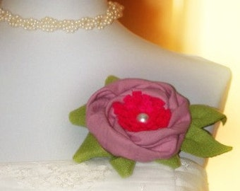 Darling Head Piece (Headband Tiara, Hair Clip, Brooch Pin). Winter Chic Etsy Handmade Infant Preteen, Fuchsia Hot Pale Pink Lime Green White
