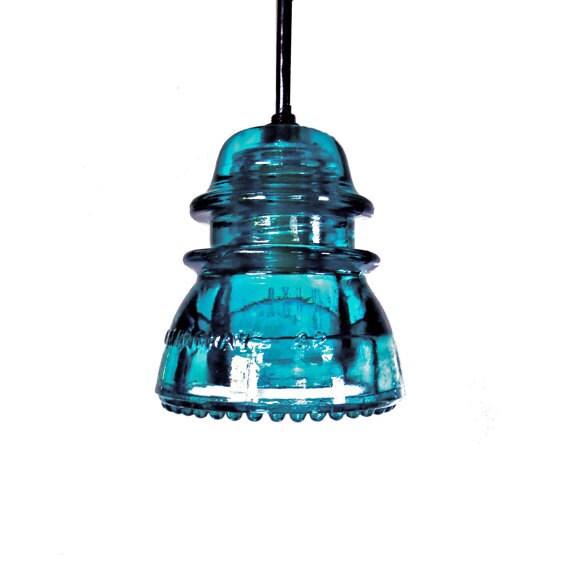 The Original Custom Antique Insulator Light Vintage Blue