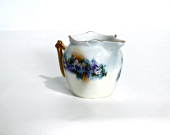 "Bavaria China Vintage Creamer Hand Painted Cottage Chic 1940's ""Favorite Bavaria"" Pattern"