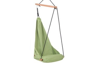 Special patent hanging chair / Hammock chair / Patio swing / Indoor swing / Outdoor patio furniture / Lounge / Color apple green (Hang Solo)