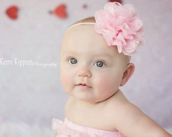 15% OFF, Baby Headbands, Baby Girl Headband, Baby Bows Headband, Infant Headband, Burlap Headband, Adult Headband, Pink Headband