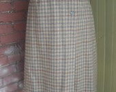 Vintage Plaid Wool Skirt ...