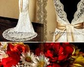 Deep V-Cut Sexy Wedding Dress, Slim Lace Wedding Dress. Beach Wedding Dress, Wedding Dress, Rustic Wedding, Wedding Dress, Lace Dresses