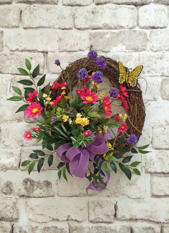 Butterfly Summer Wreath For Door Front Door Wreath Outdoor
