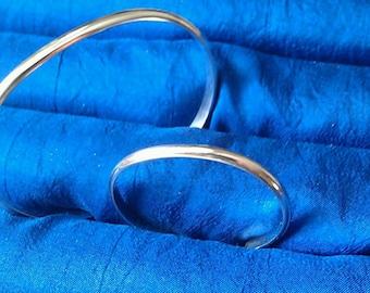 Sterling Silver Mother Daughter Bracelet set