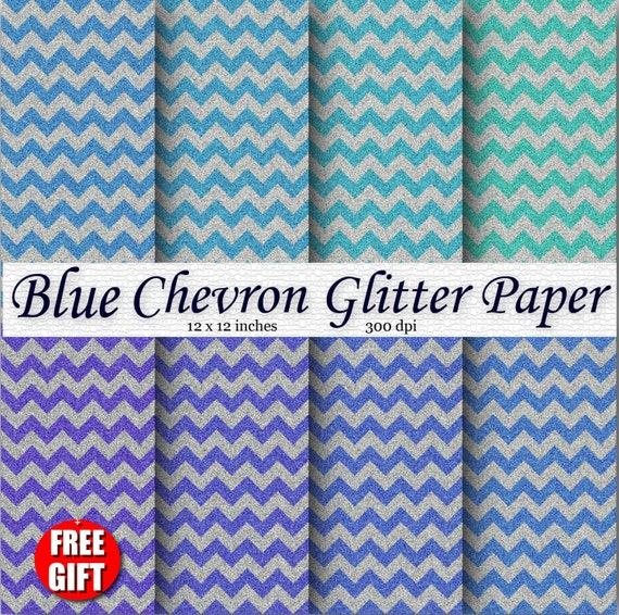 Navy Blue Chevron digital paper GLITTER clipart commercial use Glitter blue chevron Royal blue chevron background Zigzag fabric print poster