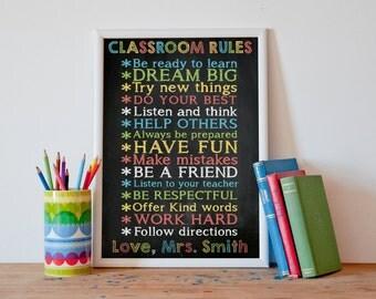 Classroom Rules Classroom Decor Gifts For Teachers