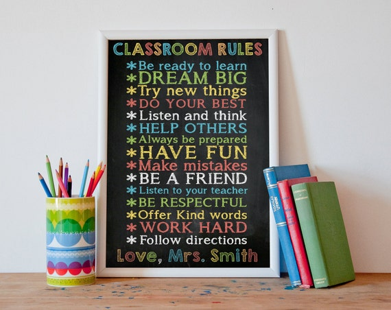 Classroom Decor Gifts ~ Classroom rules decor gifts for by