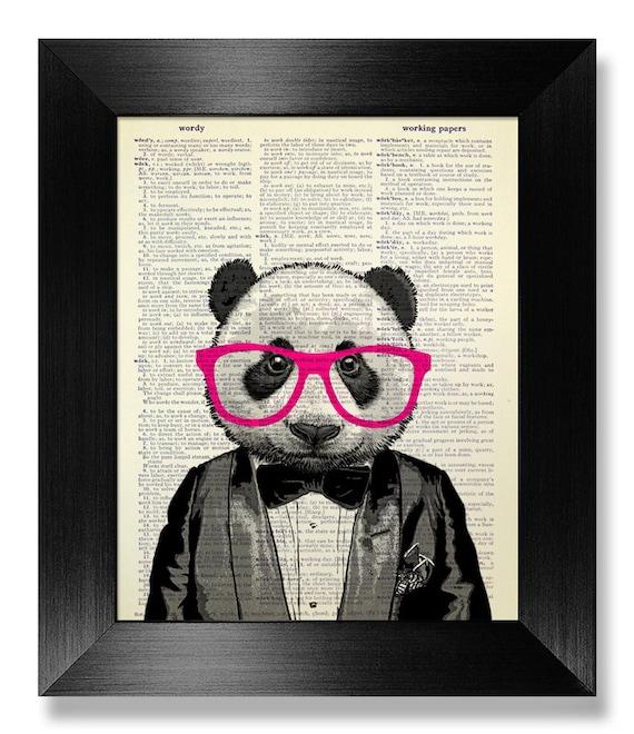 PANDA Art Cute Home OFFICE DECOR Geek Art Geeky Poster