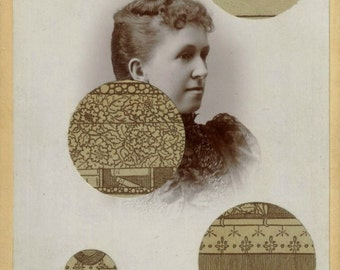 Original Mixed Media Collage Art Antique Photo Collage Artwork Sepia Tone Altered Art Picture Collage Sepia Photograph
