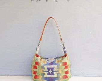 Rainbow Zipper Hobo Bag Bright Colorful Shoulder Bag Spring