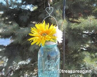 Heart Mason Jar Hanger DIY Hanging Flower Vase Lids with Heart Decor, No Jars