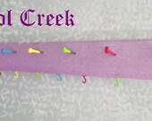 Kids Neon Jewelry Hair Tie Organizer...Necklace / Earring Hanger Brightly Colored..Closet Kitchen Bathroom Organization Dorm Organizer