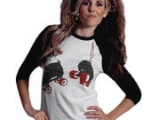 Hanging Roller Skate Vintage Fit Baseball T-Shirt. Perfect gift for roller derby skaters & fans!