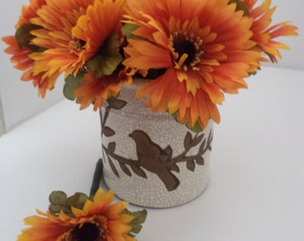Happy Fall Orange Gerbera Daisy Flower Pens-Black Ink  Functional and Cute, Dress Up Your Desk and Office for the New Season