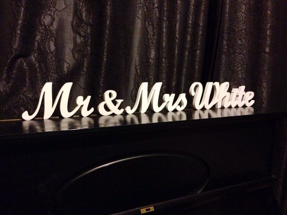 Name Personalized Sign Mr Mrs Surname Mr & Mrs Last Name