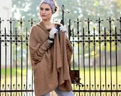 Oversize Cardigan Wool Cardigan  Knit Cardigan Women Knit Jacket Bat Sweater Camel Knitted Coat Loose Fit Cardigan