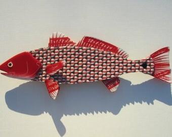 Red Stripe Beer Metal Redfish Wall Art Red Drum