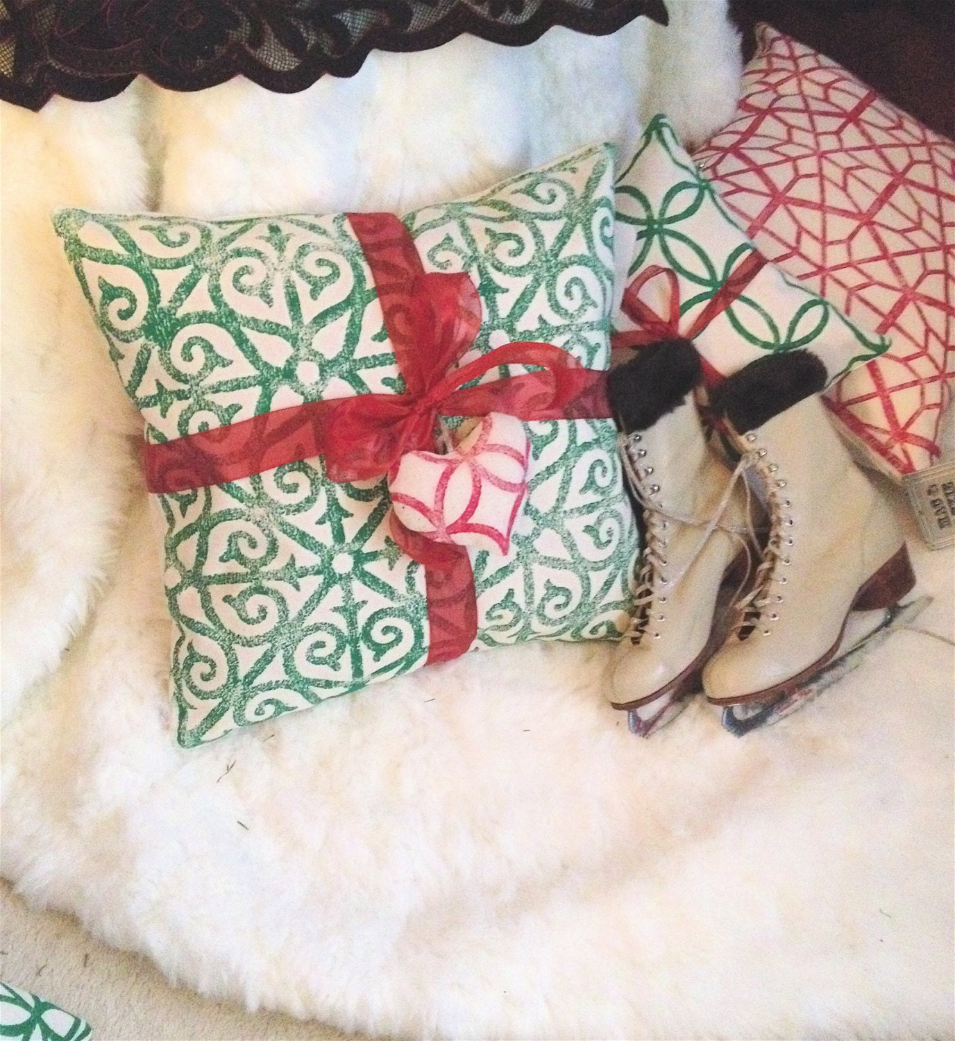 Holiday Decorative Pillows Jewel Tone Pillow Covers by MacAndLexie
