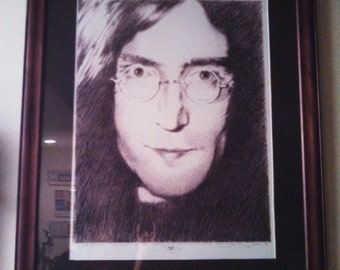 John Lennon Portrait by Stanley Mouse, collectors art piece