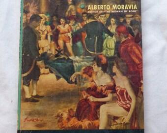"Vintage Paperback ""The Fancy Dress Party"" by Alberto Moravia, 1954."