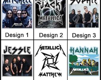Personalised Metallica Mug - Ceramic Coffee Mug - With any Name or Message - Gift Idea