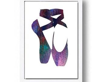 Watercolor Print Ballet Dancer Points Illustration Watercolor Painting Watercolor Art
