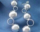 Silver Bubbles Earrings